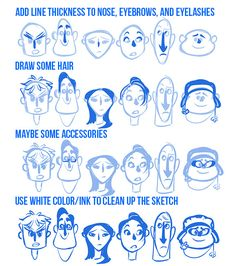 sully-s: A Anon asked me for some pointers on how to draw in my style today. I didn't really know how to write pointers so I thought I would attempt a very minimal tutorial. Click through for full tutorial. Drawing Cartoon Characters, Cartoon Faces, Character Drawing, Character Illustration, Cartoon Drawings, Cartoon Art, Animation Character, Character Sketches, Draw Tips