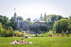 Belvedere Castle in Central Park, New York royalty-free stock photo