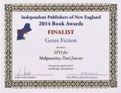 award - author Paul Janson https://www.facebook.com/MalpracticeTheBook Mystery Books, Writers, Event Ticket, Novels, Medicine, Author, Writer, Authors, Fiction