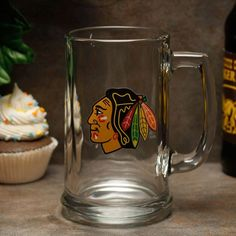 Chicago Blackhawks 15oz. Glass Sports Mug