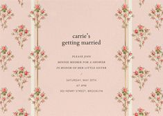 Discover invitations from Brock Collection for your next soirée. Browse the online collection featuring romantic floral fabrics from the fashion duo. Wedding Cards, Wedding Events, Blush Color Palette, Paperless Post, Word Out, Sun Kissed, Color Card, Floral Fabric, Little Sisters
