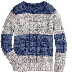 J.Crew sweater Marled cable pullover in stripe. J. Crew Sweaters Crew & Scoop Necks