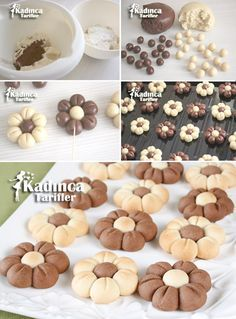 Çiçek Kurabiye Tarifi, Nasıl Yapılır Çiçek Kurabiye Tarifi - galletas - Las recetas más prácticas y fáciles Easy Cookie Recipes, Cookie Desserts, Sweet Recipes, Baking Recipes, Dessert Recipes, Biscotti Cookies, Yummy Cookies, Food Crafts, Cookies Et Biscuits