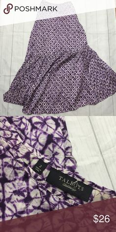 Talbots maxi skirt Tie dye print| trumpet style | maxi skirt | zips on back| excellent condition no signs of wear  | missing paper tags | NEW | Talbots Skirts Maxi