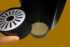 Die höhenverstellbare Tropfschale der EXPRESSI Kapsel-Kaffeemaschine von ALDI Süd