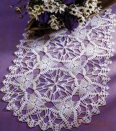 Crochet: Doilies oval track2