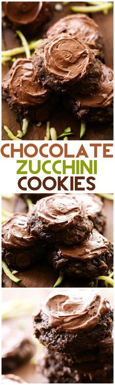 Chocolate Zucchini Cookies... this recipe is absolutely AMAZING! A delicious and sweet way to use up some of that zucchini abundance! These cookies are outstanding!