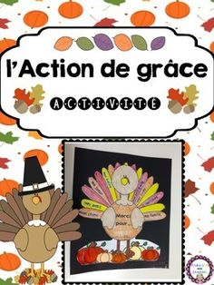 L'Action de Grâce French Turkey Activity for Thanksgiving Thanksgiving Kindergarten Art, Thanksgiving Art, Thanksgiving Activities, Holiday Activities, Thanksgiving Decorations, French Teaching Resources, Teaching French, Communication Orale, Turkey Project