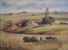 """Aldo Curto """"Campo"""" Óleo sobre cartón 60 X 81 cms. http://www.portondesanpedro.com"""