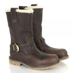 boots for women Timberland Brown Leather Nellie Pull-On Winter Womens Boot fashion boots collection