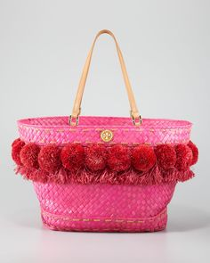 Tory Burch - Beachy Norah Bucket Tote, Flame Red - http://womenspin.com/handbags/tory-burch-beachy-norah-bucket-tote-flame-red/