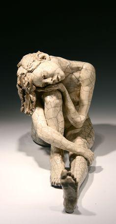 ceramic-figurative-sculpture raku-sculpture wood-fired-sculpture figurative-sculpture