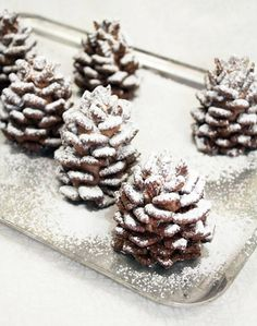 Chex Muddy Buddy (puppy chow) pine cones