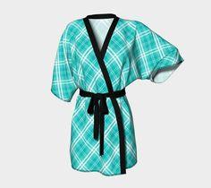 "Kimono+Robe+""McTiffany+Tartan+Plaid""+by+Mallchick"