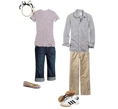 couple outfit - simpler but cute!