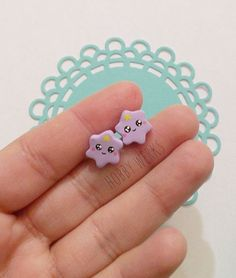 Adventure Time Inspired: Lumpy Space Princess Earring Studs ~ Polymer Clay on Etsy, $5.50