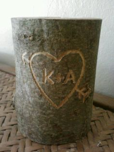Rustic wedding candle, Valentine's Day, Unity Candle