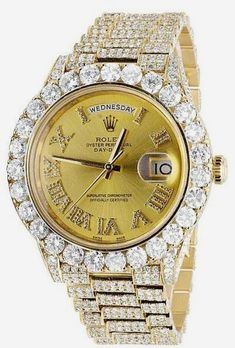 Rolex Day-Date II President 228238 18K Yellow Gold 30.50 Ct Diamond 40mm Watch