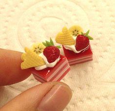 Kuchen mit erdbeer