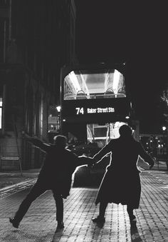 "It looks like they're dancing. ""Sherlock what are we doing? We're going to get killed!"" ""It's for a case John!"""