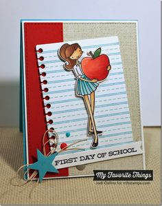 Featuring: LLD School Days, LLD Head Of The Class, á la modes An Apple For Teacher, Linen Background, Blueprints 2 Die-namics, Blueprints 13 Die-namics, Blueprints 16 Die-namics, 3X4 Notebook Paper Die-namics, Fishtail Flags STAX Die-namics and Vertical Stitched Strips Die-namics!