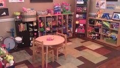 Our newly organized playroom...I love using cubbies to put toys in! Such a HUGE space saver and toys don't get lost at the bottom of storage bins.