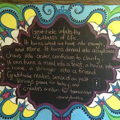 Gratitude unlocks the fullness of life ...