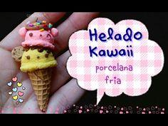 Helado doble kawaii (•ᴗ•)PORCELANA FRIA