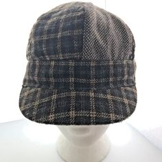 824d1542bc1 Newsboy Cabbies Style Womens Hat Polyester Acrylic Plaid Brown Tan   Unknownmissingbrandlabel  NewsboyCap Caps Hats