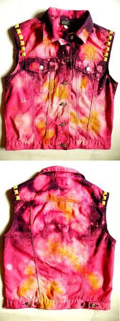diy galaxy color explosion vest