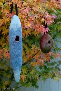 felt birdhouses - Spiderfelt
