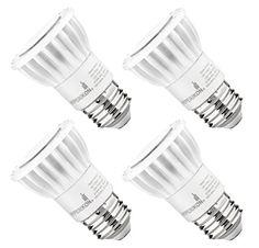 Hyperikon PAR16 Dimmable LED Bulb 8W (50W equivalent) 500 lumen 2700K (Warm White) CRI90 Flood Light Bulb 40 Beam Angle Medium Base (E26) Dimmable UL-Listed  (Pack of 4)
