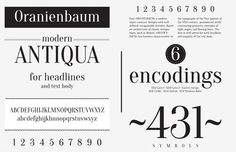Oranienbaum Free Font 100 Greatest Free Fonts Collection for 2013 - Awwwards - typefaces, webfonts, free fonts