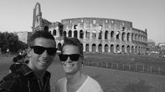 The boyfriend and I infront of the Colosseo. The first of the 7 wonders of the world- which is going to be the next ?