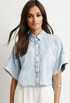 96ad8d8209f soft-washed denim with kimono sleeves.