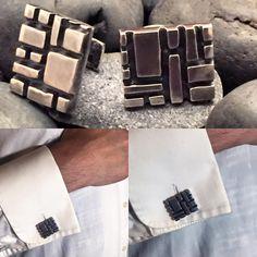 Sterling silver cufflinks by Roberto De Uslar for Zagreo Jewelry