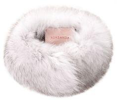 Col en renard blanc, Roksanda cadeaux de noel