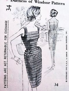 Authentic vintage sewing patterns: This is a fabulous original dress making pattern, not a copy. Because the sewing patterns are vintage and pre owned, we check each vintage sewing pattern for complet