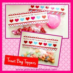 FREE Printable Valentine's Day Treat Bag Toppers!  #valentinesday #freeprintables