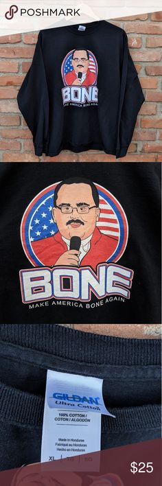 dc0bb2b7 Ken Bone Make America Bone Again long sleeve Ken Bone Make America Bone  Again long sleeve Size XL Pit to pit Sleeve Length collar to bottom Shirts  Tees ...