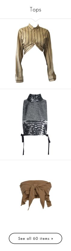 """""""Tops"""" by styledbyaysegul ❤ liked on Polyvore featuring tops, crop tops, blouses, metallic, shiny blouse, metallic sleeveless top, sequin top, crop blouse, crop top and crops"""