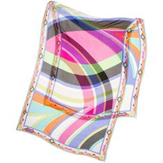 Pre-owned Emilio Pucci Scarf/Wrap ($143) ❤ liked on Polyvore featuring accessories, scarves, apparel & accessories, clothing accessories, multicolor, scarves & shawls, colorful shawl, wrap scarves, sheer shawl and sheer scarves