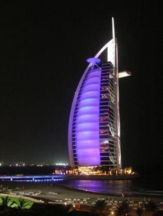 Dubai Burj at Night