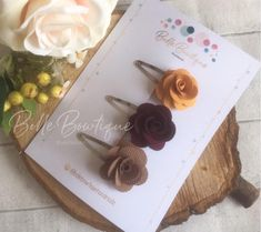 Excited to share this item from my shop: fabric flowers snap clip barette satin ribbon flowers mustard, taupe wine red hair clip pack of 3 gorgeous clips Satin Ribbon Flowers, Fabric Flowers, Taupe Colour, Color, Wine Red Hair, Red Hair Clips, Little Princess, Mustard, Handmade Items