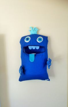 Cool Royal Blue und Blue 2 eyed Monster von ColourMeldDesigns