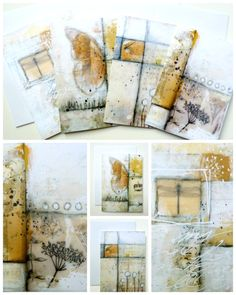 Warm autumn shades and soft wintery tones... set of 4 greeting cards © 2015 Laly Mille