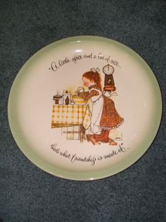 Vintage 1972 Holly Hobbie Collector's Edition Plate by by Andie83, $14.00