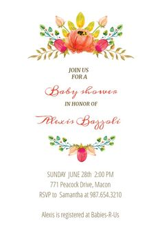 flowers crown baby shower invitation bridal shower party printable invitation templates crown printable