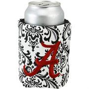 Alabama Crimson Tide Black-White Paisley Canvas Can Koozie