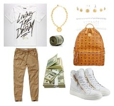 """""""YRN Yung Rich Nation"""" by yungrichnation ❤ liked on Polyvore featuring moda, Hollister Co., Giuseppe Zanotti, Versace y MCM"""